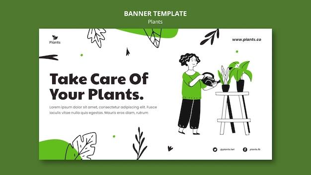 Modèle de bannière de passe-temps de jardinage