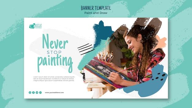 Modèle de bannière de peinture et de dessin