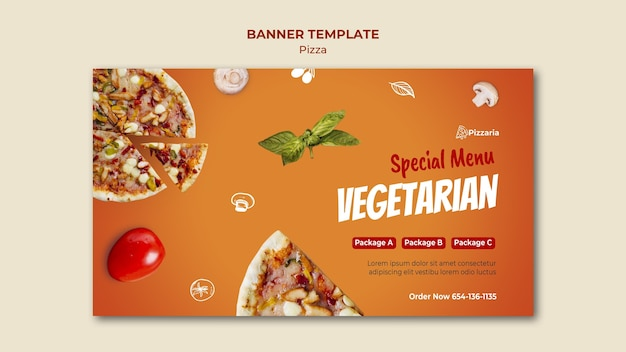 Modèle De Bannière De Pizza Psd gratuit