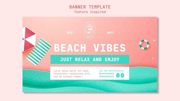 Modèle de bannière de plage texturée
