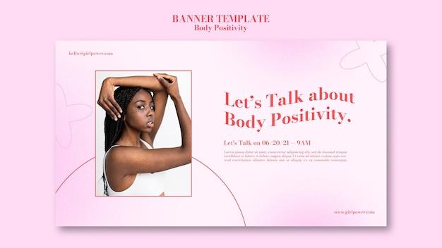 Modèle de bannière positive de corps