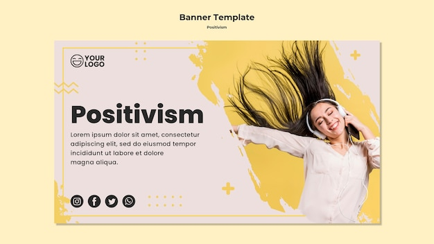 Modèle de bannière positivisme
