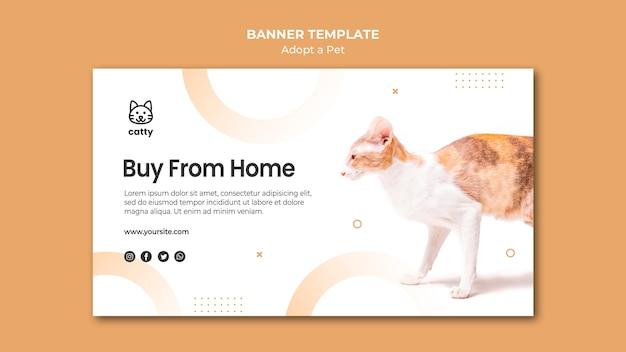Modèle de bannière pour adopter un animal de compagnie
