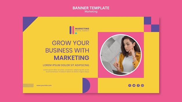 Modèle de bannière pour agence de marketing créatif