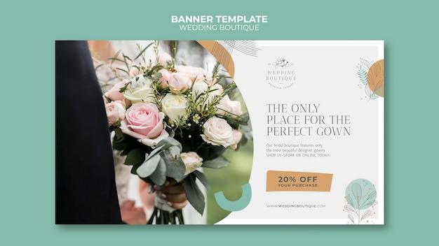 Modèle de bannière pour une boutique de mariage élégante