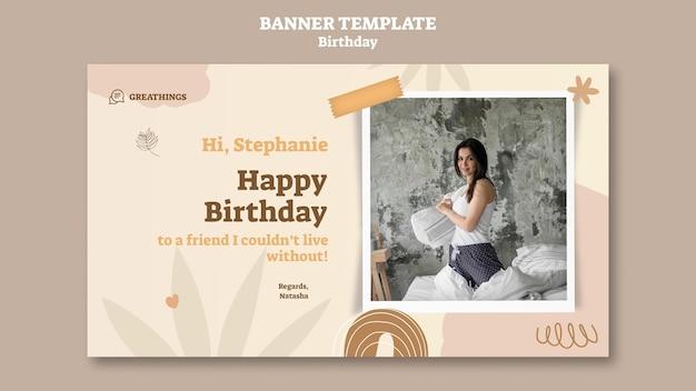 Modèle de bannière pour la célébration d'anniversaire