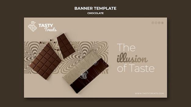 Modèle de bannière pour le chocolat