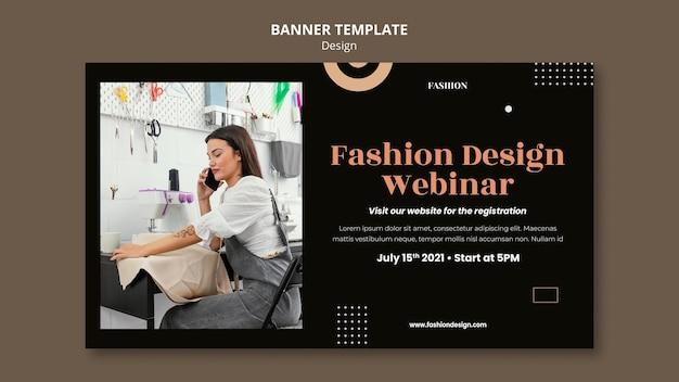 Modèle de bannière pour créateur de mode