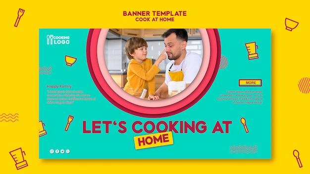 Modèle de bannière pour cuisiner à la maison