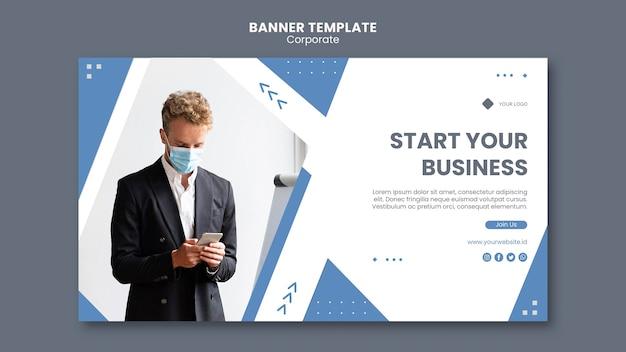 Modèle de bannière pour entreprise professionnelle
