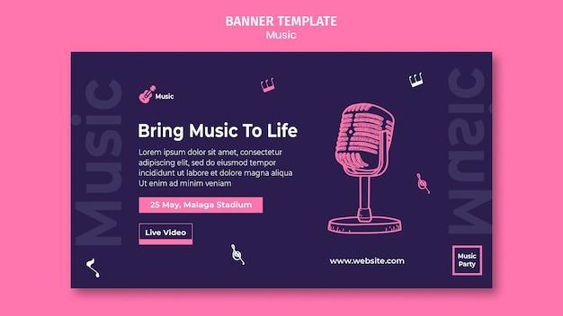 Modèle de bannière pour fête de la musique