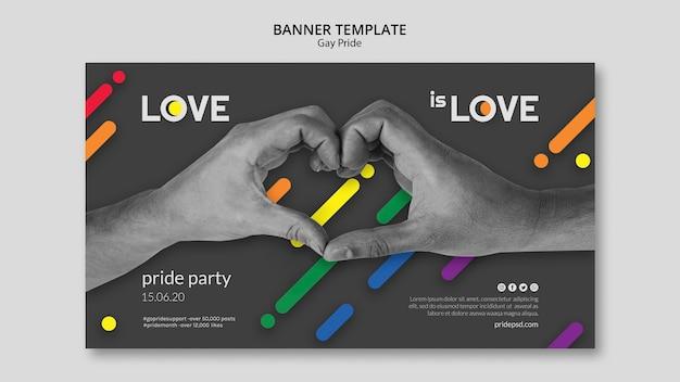 Modèle de bannière pour la fierté gay
