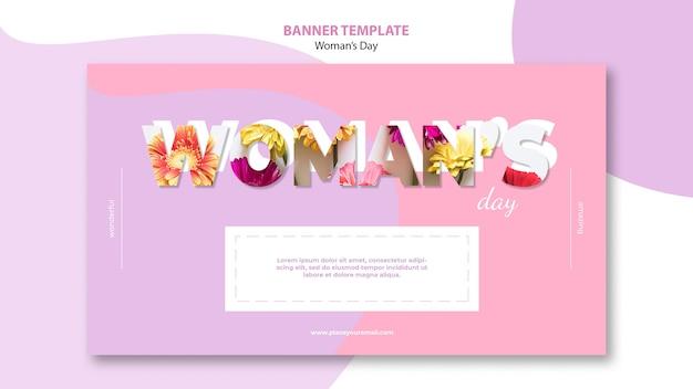 Modèle de bannière pour le jour de la femme