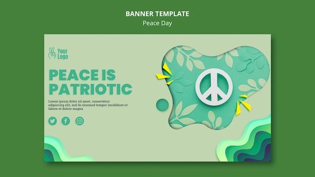 Modèle de bannière pour la journée internationale de la paix