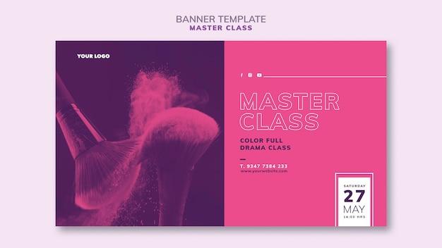 Modèle de bannière pour masterclass