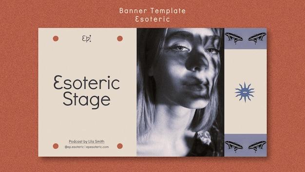 Modèle de bannière pour le mysticisme et l'ésotérisme