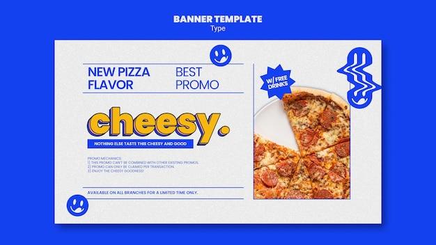 Modèle de bannière pour une nouvelle saveur de pizza au fromage