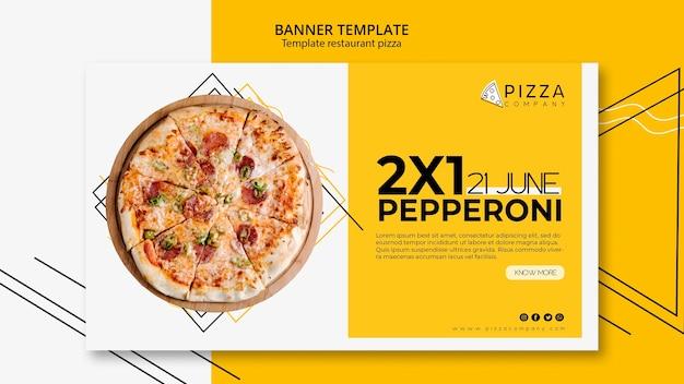 Modèle de bannière pour pizzeria