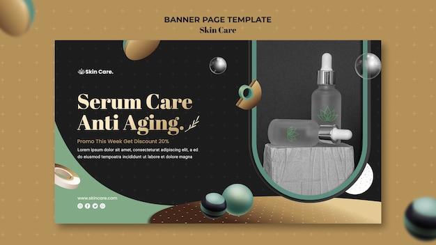Modèle de bannière pour les produits de soins de la peau