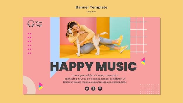 Modèle de bannière pour profiter de la musique