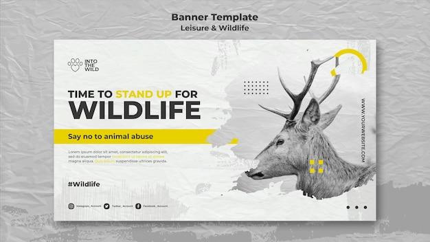 Modèle de bannière pour la protection de la faune et de l'environnement