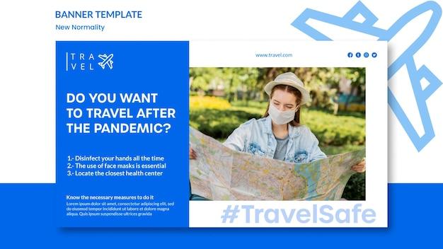 Modèle de bannière pour réservation de voyage