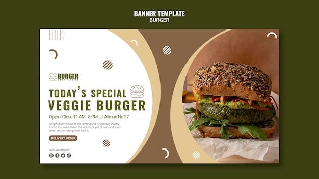 Modèle de bannière pour restaurant burger