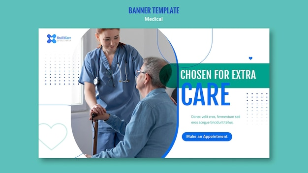 Modèle de bannière pour les soins de santé