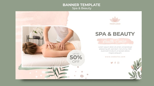 Modèle de bannière pour la thérapie spa