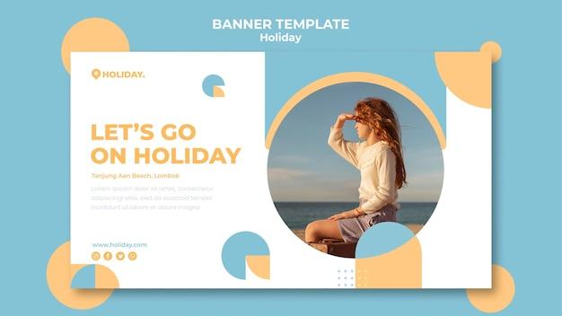 Modèle de bannière pour les vacances d'été