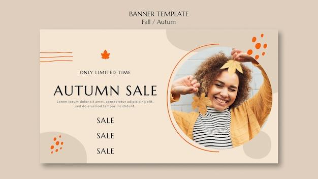 Modèle de bannière pour la vente d'automne