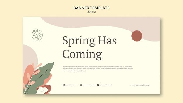 Modèle de bannière de printemps à venir