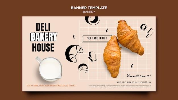Modèle de bannière de produits de boulangerie