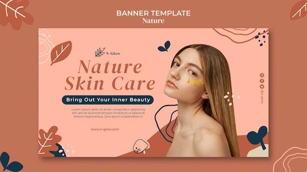 Modèle de bannière de produits de soins de la peau naturels