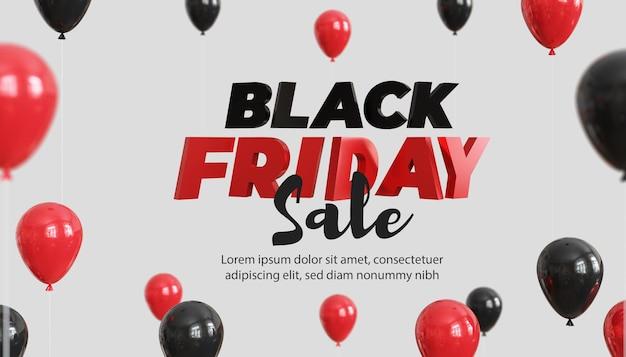 Modèle de bannière de promotion de vente de fiday noir