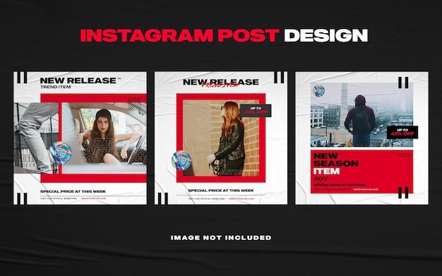 Modèle de bannière de publication instagram de meubles