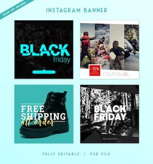 Modèle de bannière de publication intagram et médias sociaux modernes