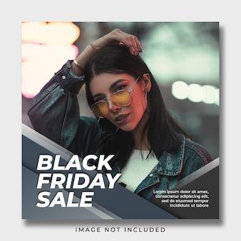 Modèle de bannière de publication de médias sociaux vendredi noir