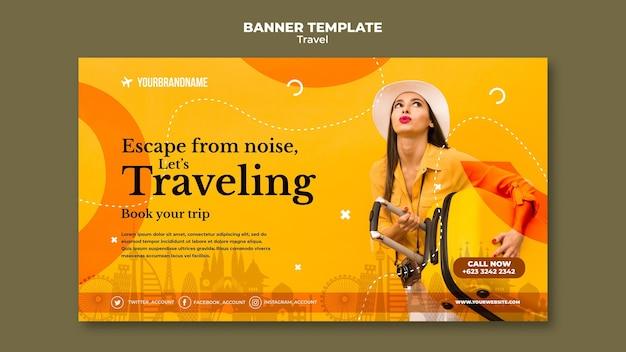 Modèle de bannière publicitaire d'agence de voyage