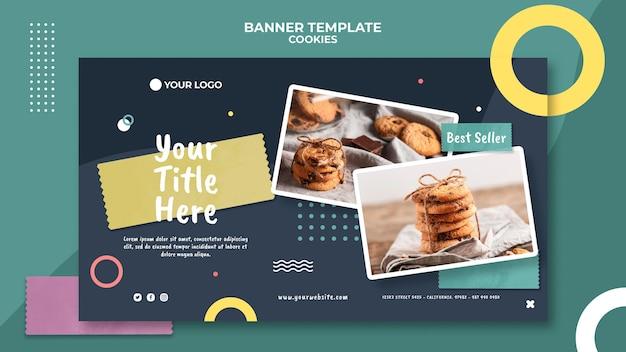 Modèle de bannière publicitaire de cookie shop