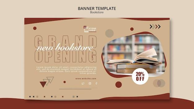 Modèle de bannière publicitaire de librairie