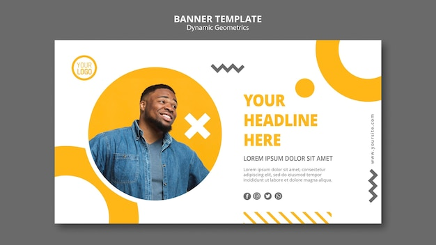 Modèle de bannière publicitaire minimaliste