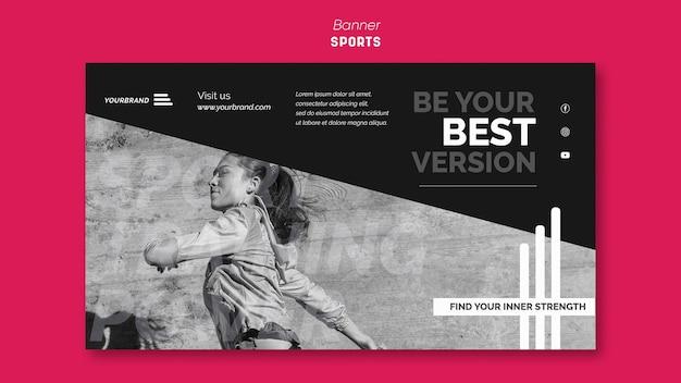 Modèle de bannière publicitaire de sport