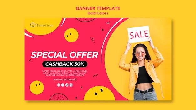Modèle de bannière publicitaire de vente