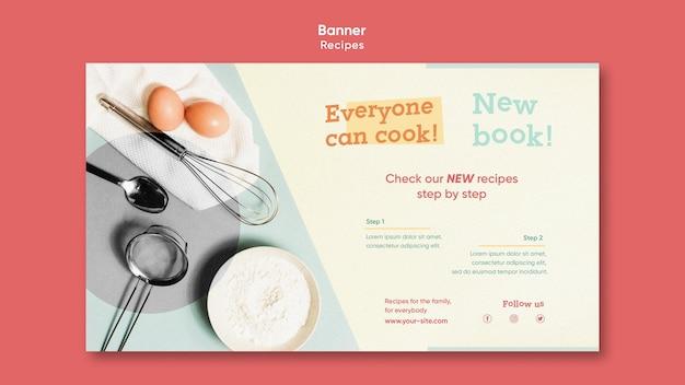 Modèle de bannière de recettes de cuisine