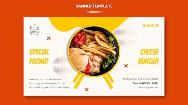 Modèle de bannière de restaurant burger