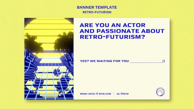 Modèle de bannière rétro-futurisme