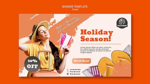 Modèle de bannière de saison de vacances