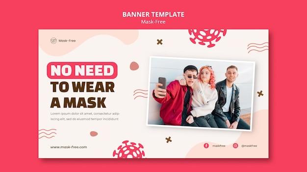 Modèle De Bannière Sans Masque Psd gratuit