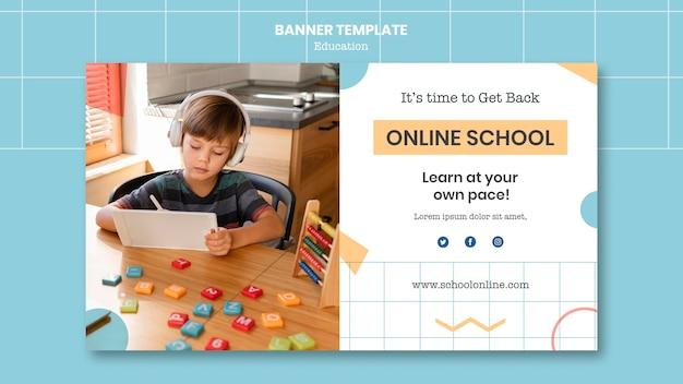 Modèle de bannière scolaire en ligne